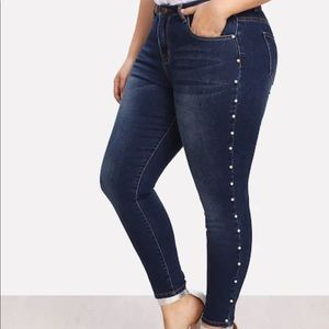 Denim - Pearl hemmed jeans